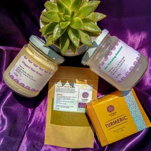 DRY SKIN PACK (Has Turmeric Bar, Aloe Hydrating Moisturizer, Glow Face Mask and Whipped Shea Butter)